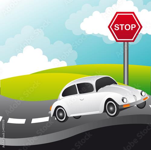 Foto op Canvas Cars car vector