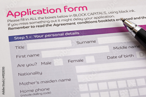 Fotografía  Application form
