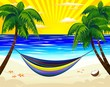 Relax-Amaca in Spiaggia Esotica-Hammock on Tropical Beach