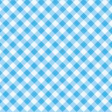 Blue Gingham Fabric Cloth, Sea...