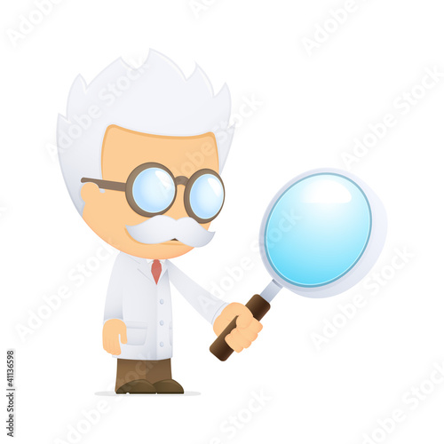 Fotografía  funny cartoon scientist