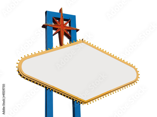 Poster  Blank Las Vegas Sign Isolated
