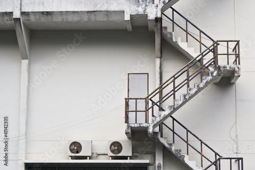 Fototapeta fire escape of a building