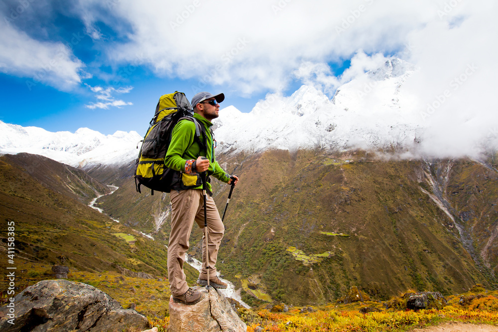 Fototapety, obrazy: Hiking in Himalaya mountains