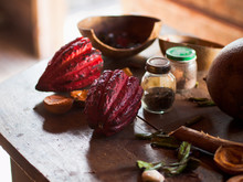 Cocoa Beans And Nutmeg