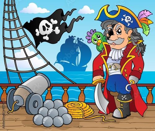 Photo Stands Pirates Pirate ship deck theme 3