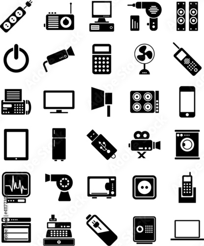Fotografia  electronic devices icons