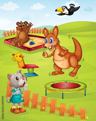 Fotobehang Boerderij Animal playground