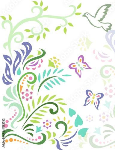 las-kwiatowy-tlo