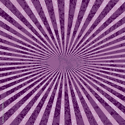 Poster Psychedelique purple rays burst
