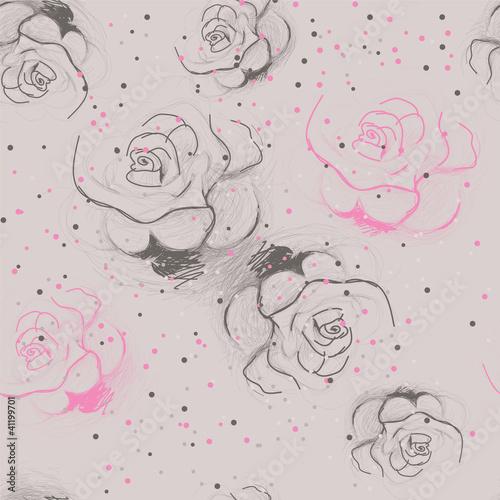 bezszwowy-roza-wzor-rocznika-kwiecisty-tlo