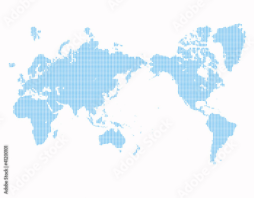 Wall Murals World Map ドット世界地図