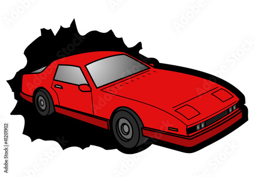 Keuken foto achterwand Cars Red car