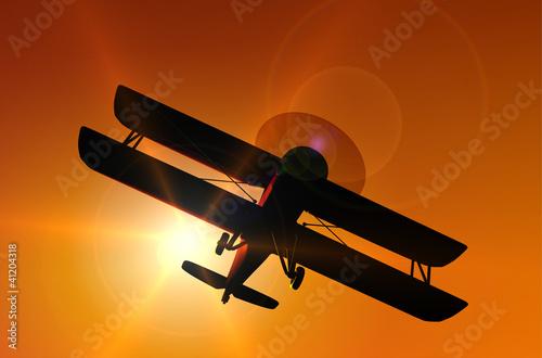 Tablou Canvas historische Flugzeuge: Doppeldecker