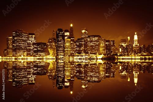 Fototapeta premium Downtown Manhattan, Nowy Jork