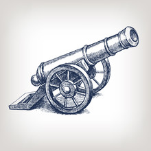 Vector Ancient Cannon Vintage ...
