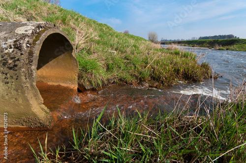 Fotografia, Obraz  drain pipe