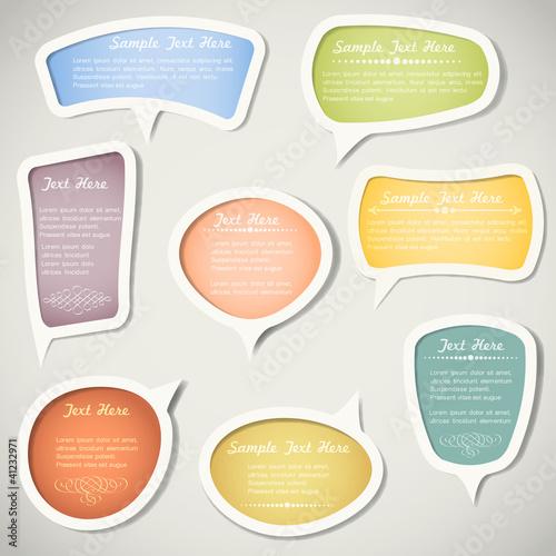 Poster  Sprechblasen mit kalligrafischen Elementen