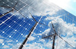 Leinwandbild Motiv green energy background
