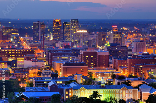 Downtown Birmingham Skyline Wallpaper Mural