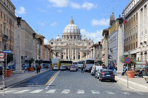 Türaufkleber Autos aus Kuba Via della Conciliazione, San Pietro,, Roma