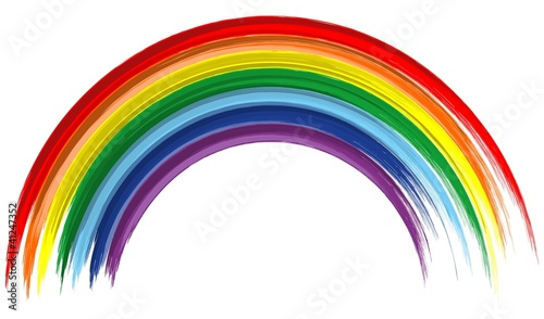 Photo  Art rainbow abstract brush paint vector background 5