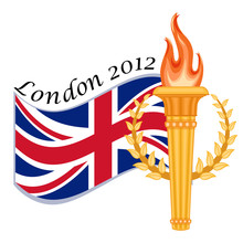 London 2012 - International Sports Games, Flag And Torch