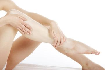 balsamowanie skóry nóg