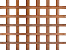Wooden Lattice Isolated