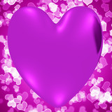 Heart With Mauve Hearts Background Showing Loving And Romance