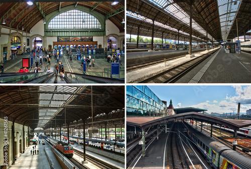 Foto auf AluDibond Bahnhof Gare de Bâle CFF SBB.