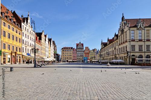 Fototapeta Market square, Wroclaw, Poland obraz na płótnie