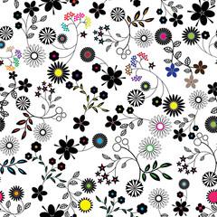 Seamless flower background pattern.