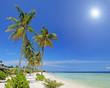 Tropical paradise in Maldives island