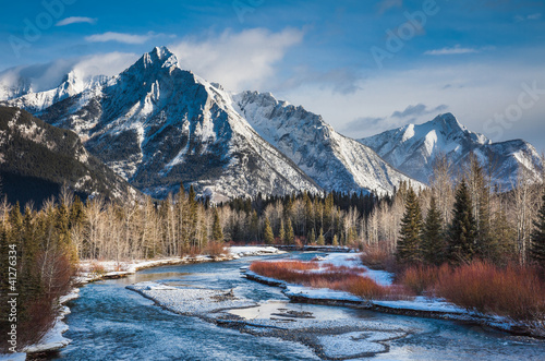 Mount Lorette and Kananaskis River, Alberta,Canada