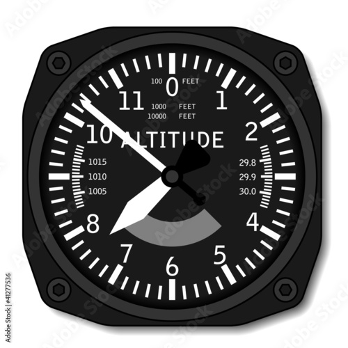 Photo vector aviation airplane altimeter
