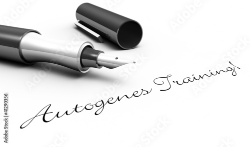 Photo Autogenes Training! - Stift Konzept