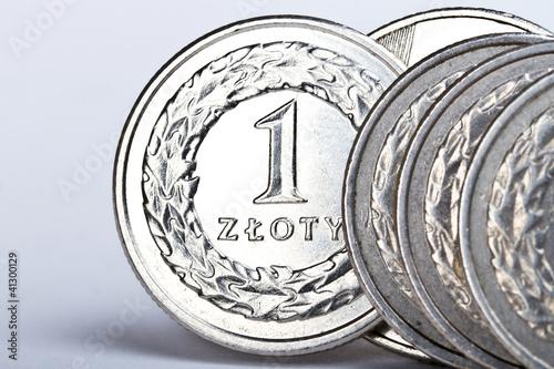 Pinturas sobre lienzo  Polish zloty coins
