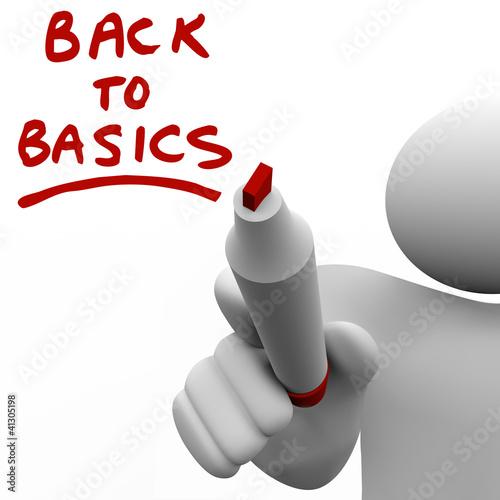 Fotografie, Obraz  Back to Basics Writing Message Red Marker