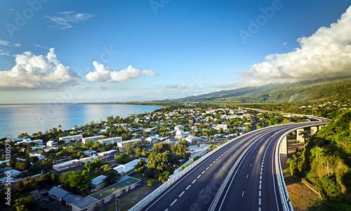 Photo  Baie de Saint-Paul au crépuscule - La Réunion