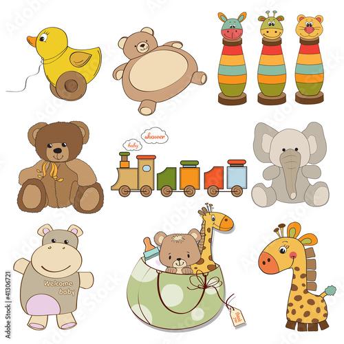 ilustracja-roznych-zabawek-dla-dziecka