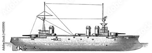 Photo  French battleship Liberte, 1905
