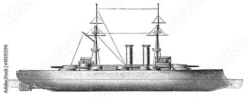 German battleship SMS Deutschland, 1904 Canvas Print