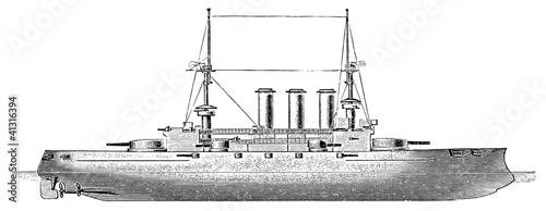 Photo  Battleship HMS Dreadnought, 1906