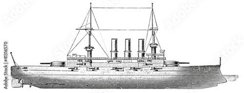 Photo  Battleship HMS Lord Nelson, 1905