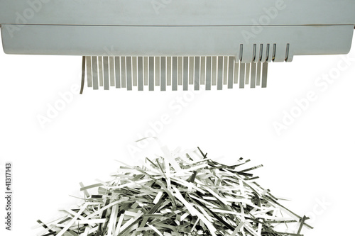 Valokuva  Paper shredder and shred mount