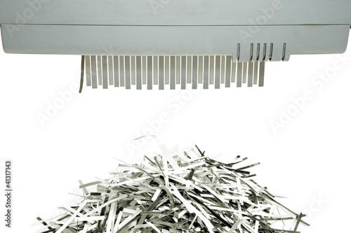 Fotografia, Obraz  Paper shredder and shred mount
