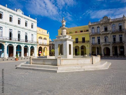 The touristic Old Square in Havana, Cuba Wallpaper Mural