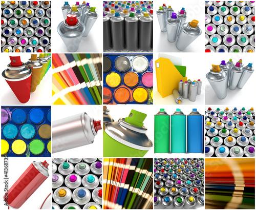 Graphisme,spray collection