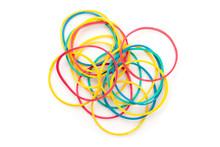 Large Group Of Muti Coloured Elastics